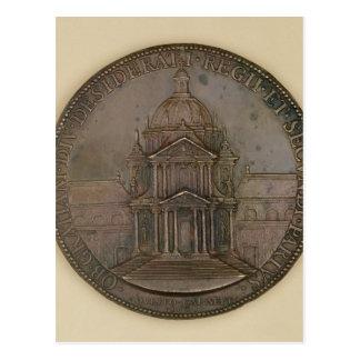 Foundation medal of Val-de-Grace Postcard