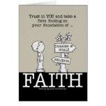 Foundation of Faith Greeting Card