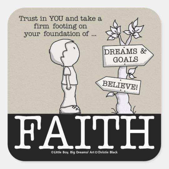 Foundation of Faith Square Sticker