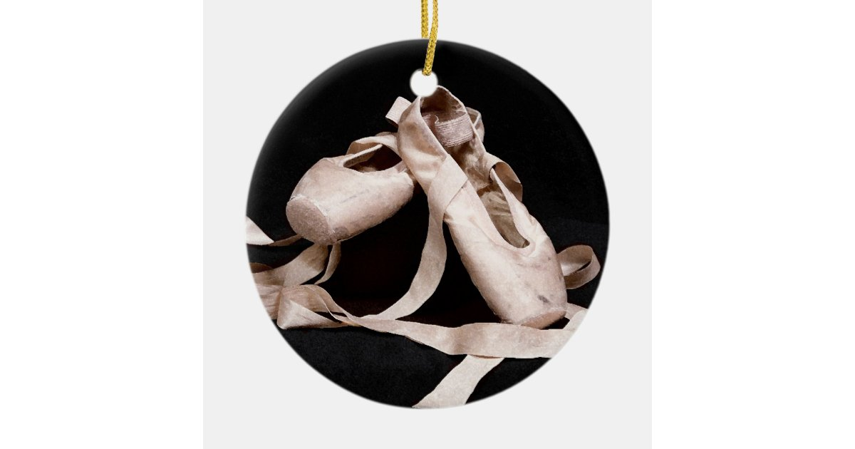 Foundation of grace ballet shoes holiday ornament zazzle for Ballet shoes christmas decoration