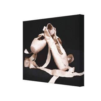 Foundation of Grace Pink Ballet Shoes Canvas Print