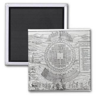 Foundation of Hochelaga 2 Inch Square Magnet