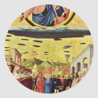 Foundation Of Santa Maria Maggiore By Masolino (Be Round Sticker