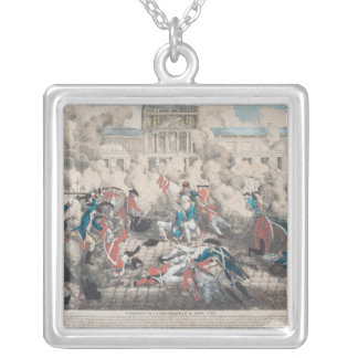 Foundation of the Republic, 10th August 1792 Silver Plated Necklace