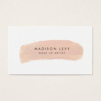 Foundation Swatch Make Up Artist Business Cards