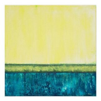 Foundation - Yellow Blue Green Abstract Art Poster