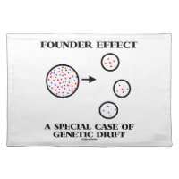 Founder Effect A Special Case Of Genetic Drift Cloth Placemat