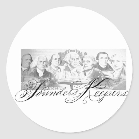 Founders Keepers Classic Round Sticker