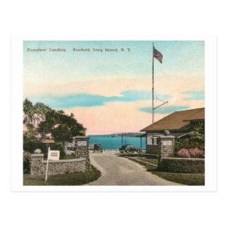 Founders Landing, Southold, Long Island NY Vintage Postcard