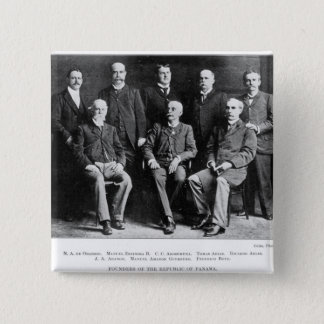 Founders of the Republic of Panama Pinback Button