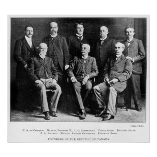 Founders of the Republic of Panama Poster