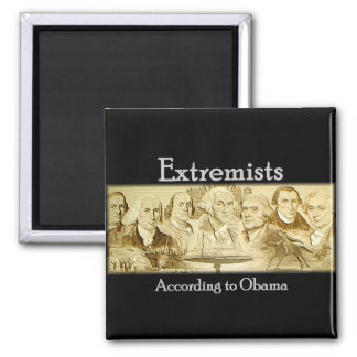 Founding Fathers 2 Inch Square Magnet