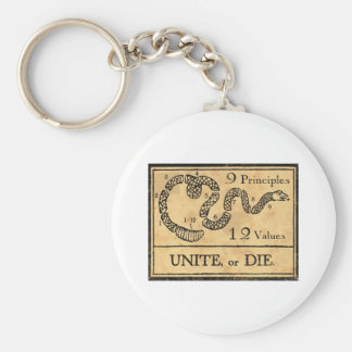founding fathers basic round button keychain