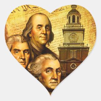 Founding Fathers Heart Sticker