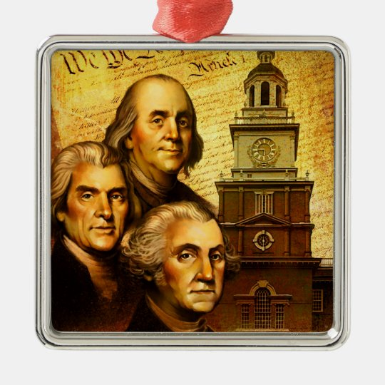 Founding Fathers Metal Ornament