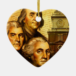 Founding Fathers Christmas Tree Ornament