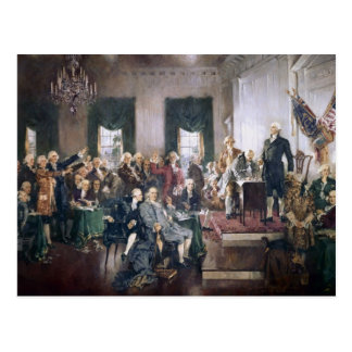 Founding Fathers Signing the US Constitution Postcards