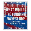Founding Fathers Small Poster print