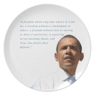 Founding Ideals Melamine Plate