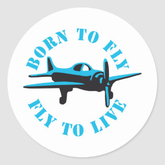 Fount ton fly 2C Classic Round Sticker