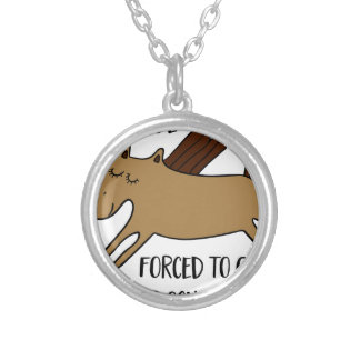 fount ton ride silver plated necklace