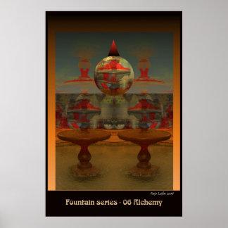 Fountain 06 Alchemy by Talisbird artist Anjo Lafin Poster