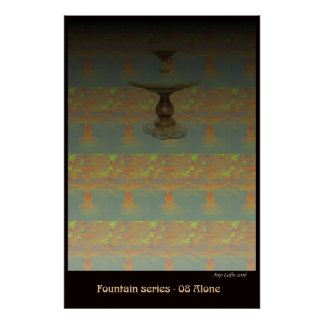 Fountain 08 Alone by Talisbird artist Anjo Lafin Poster