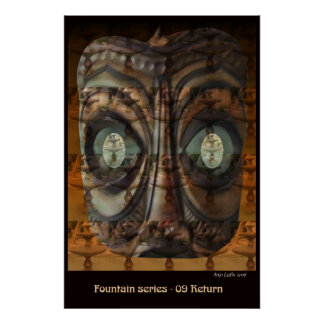 Fountain 09 Return by Talisbird artist Anjo Lafin Poster
