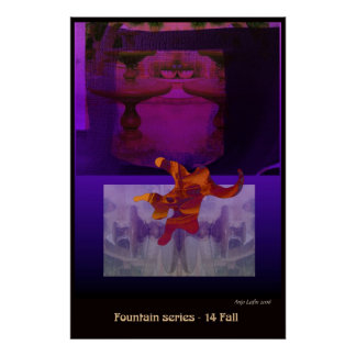 Fountain 14 Fall by Talisbird artist Anjo Lafin. Poster