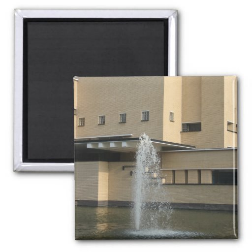 Fountain 2 Inch Square Magnet