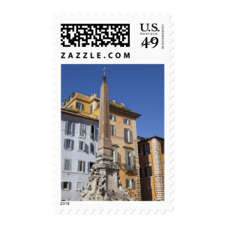 fountain and Egyptian obilisk at the centre of Postage Stamps