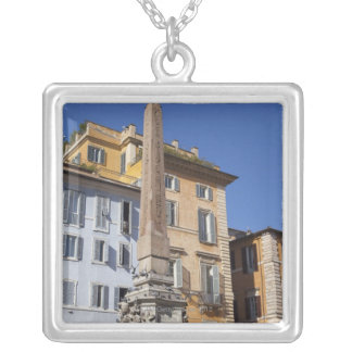 fountain and Egyptian obilisk at the centre of Silver Plated Necklace