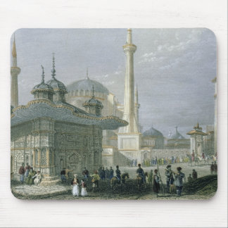 Fountain and Square of St. Sophia, Istanbul, engra Mouse Pad