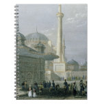 Fountain and Square of St. Sophia, Istanbul, engra Spiral Notebook