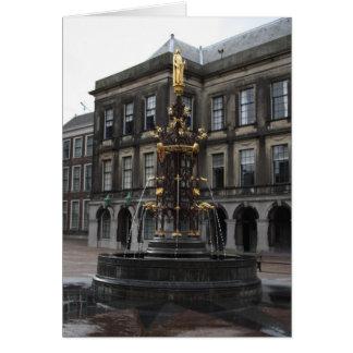 Fountain at Binnenhof Card