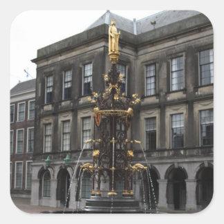 Fountain at Binnenhof Square Sticker