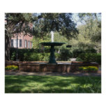Fountain at Green Square Poster