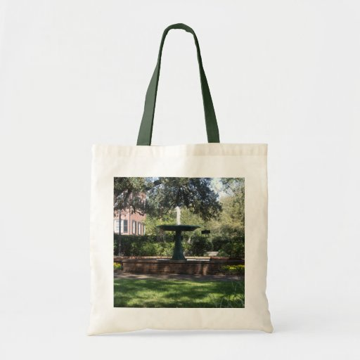 Fountain at Green Square Tote Bags