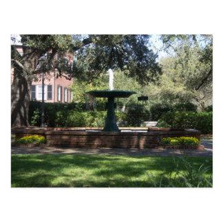 Fountain at Greene Square Postcard