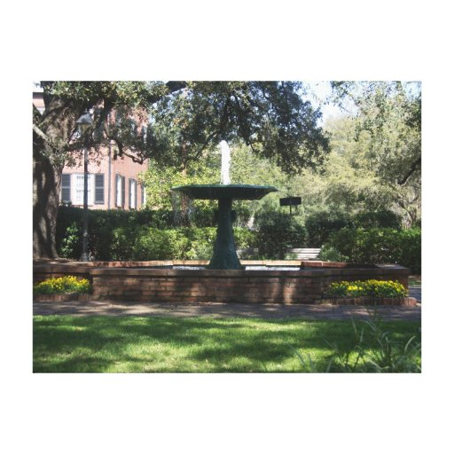 Fountain at Greene Square Wrapped Canvas