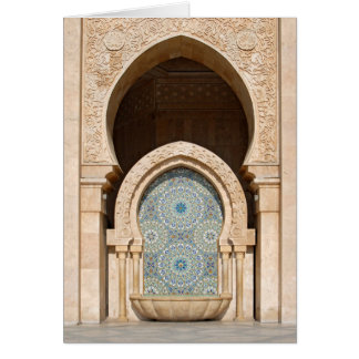 Fountain at Hassan II Mosque, Casablanca Card
