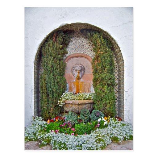 Fountain at La Quinta Postcard