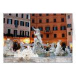 Fountain at Navona Square Greeting Card