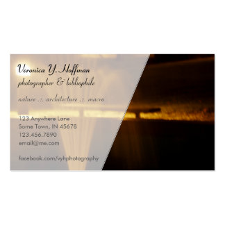 Fountain at Night Business Card