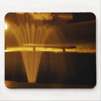 Fountain at Night Mouse Pad