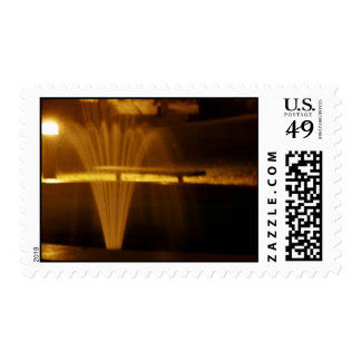 Fountain at Night Stamp