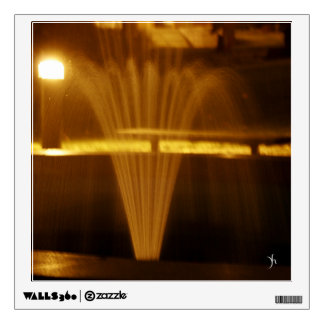 Fountain at Night Wall Decal