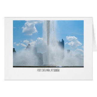 Fountain at Point State Park Card