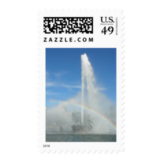 Fountain at the Point Postage Stamp