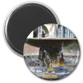 Fountain At The Trolley Station In Downtown San Di Refrigerator Magnets